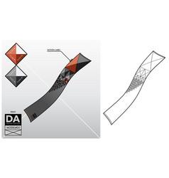 tech sketch of a scarf vector image