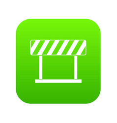 traffic prohibition sign icon digital green vector image