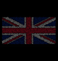 Uk flag pattern of conection links icons vector
