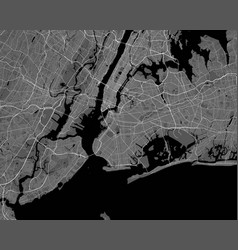 Urban city map new york poster grayscale vector