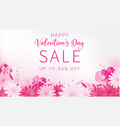Valentines day sale banner vector