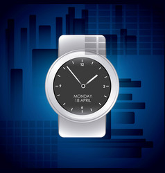 watch wrist design vector image