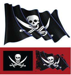 waving jolly roger of calico jack vector image