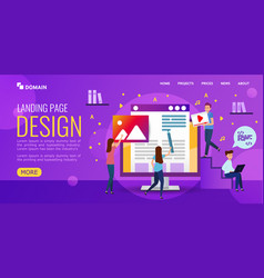 web design studio develops website design people vector image