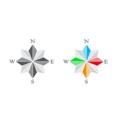 Windrose and compass vector image