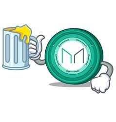 With juice maker coin mascot cartoon vector
