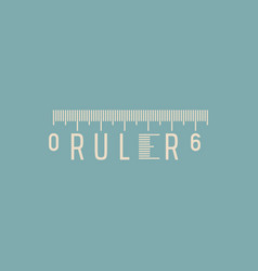 word ruler typographic concept vector image
