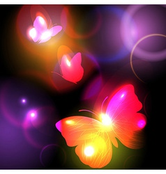 Bright Background With Butterflies vector image vector image