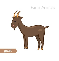 cute cartoon goat isolated background vector image