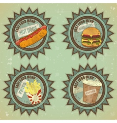 fast food labels vector image
