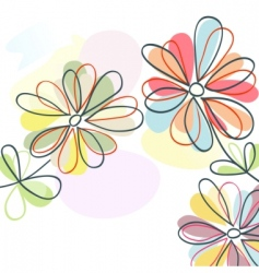 floral pastel vector image vector image