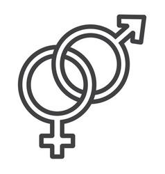heterosexual line icon valentines day vector image