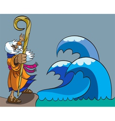 Moses and Red Sea vector image vector image