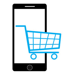 shopping on mobile vector image vector image