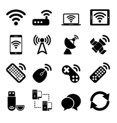 Wireless Devices Icons Set vector image