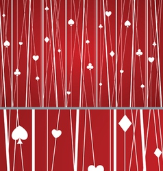 Abstract Seamless Poker Pattern Red vector image vector image