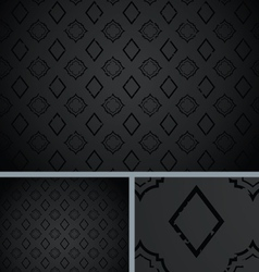 Black Vintage Poker Diamond Distressed Background vector image vector image