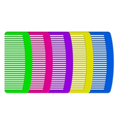 colorful combs vector image