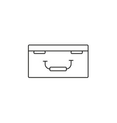 drone case icon vector image