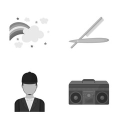 Leisure port business and other monochrome icon vector