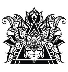 lotus tattoo vector image vector image