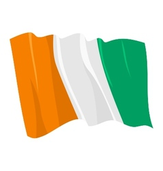 political waving flag of ivory coast vector image vector image