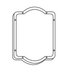 Silhouette rounded rectangle elegant heraldic vector