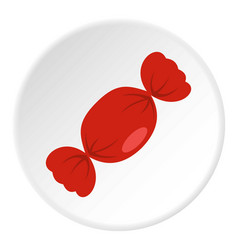 candy in red wrap icon circle vector image vector image