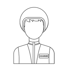 Courier icon in outline style isolated on white vector image vector image