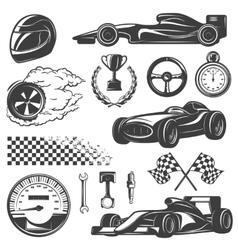 Racing Black Icon Set vector image vector image