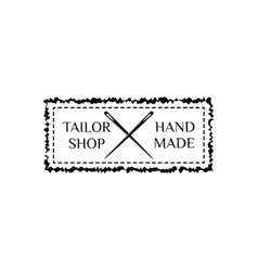 retro hand made badge Ornate frame vector image