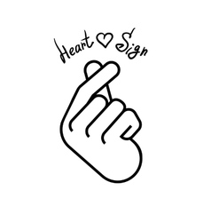 The hand folded into a heart symbol vector image vector image