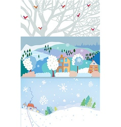 Winter banner for Christmas and New year time vector image vector image