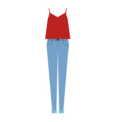 women casual clothes icon vector image