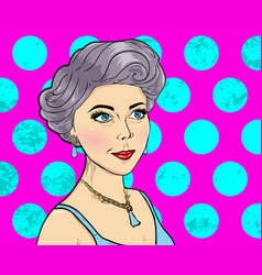 women comic books style on pink background vector image vector image