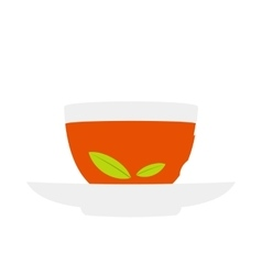 A cup of tea icon flat style vector