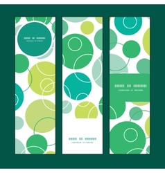 abstract green circles vertical banners set vector image