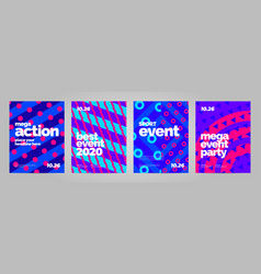 Abstract poster template design for mega event vector