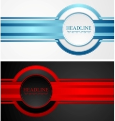 Abstract tech corporate banners vector