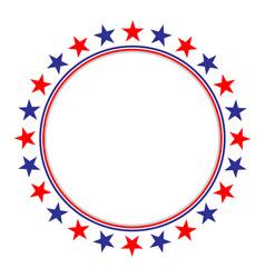 american flag stars symbols frame vector image