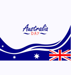 Australia day banner template vector