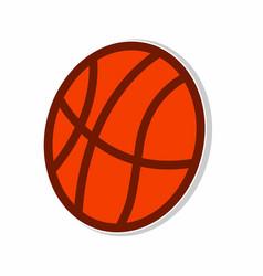 ball basketball sticker concept vector image