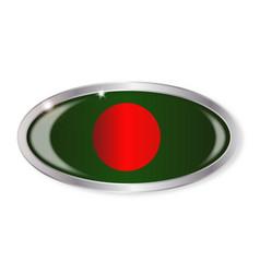 Bangladesh flag oval button vector