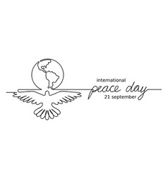 Black and white minimalist peace day vector