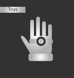 black and white style toy bracelet hand vector image