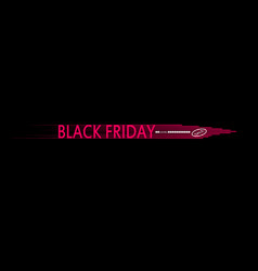 black friday speed icon and loading bar on the vector image