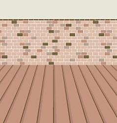 Brick Balcony With Wooden Floor vector image