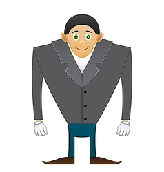 Broad shoulders office man vector