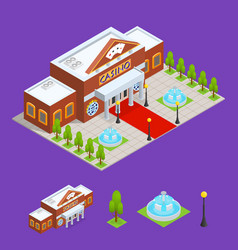 casino building and part isometric view vector image