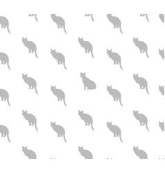 cat seamless pattern pets background kitten vector image
